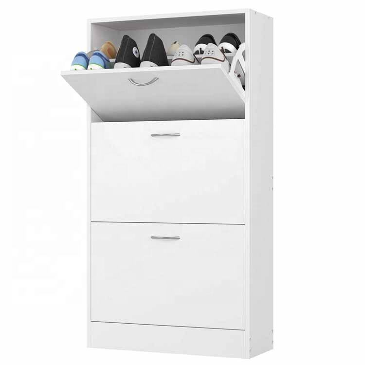modern high gloss white 50 pair shoe rack shelf storage closet organizer cabinet