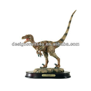 Antieke polyresin dinosaurus skelet model