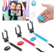 Selfie Stick Monopod + Bluetooth Remote Shutter for Android Mobile Phone SJ4000 Camera Monopod for iPhone 6 5S 5 4S 4
