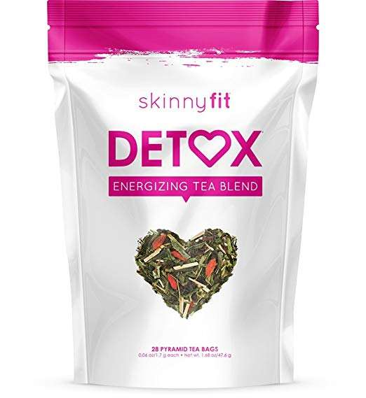 SkinnyFit Detox Tea All Natural Laxative Free Vegan Gluten Free Slimming Way to Release Toxins for Weight Loss Reduce Bloating