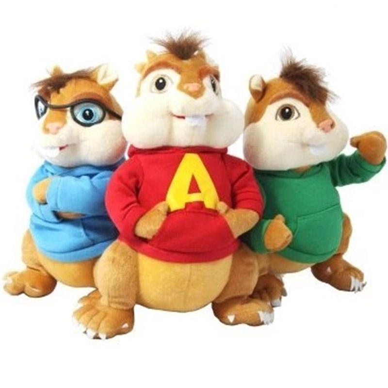 Personalizzato soft animali della mascotte di peluche alvin and chipmunks peluche chipmunk