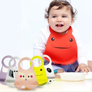 Wholesale fashion cute silicone waterproof baby bibs