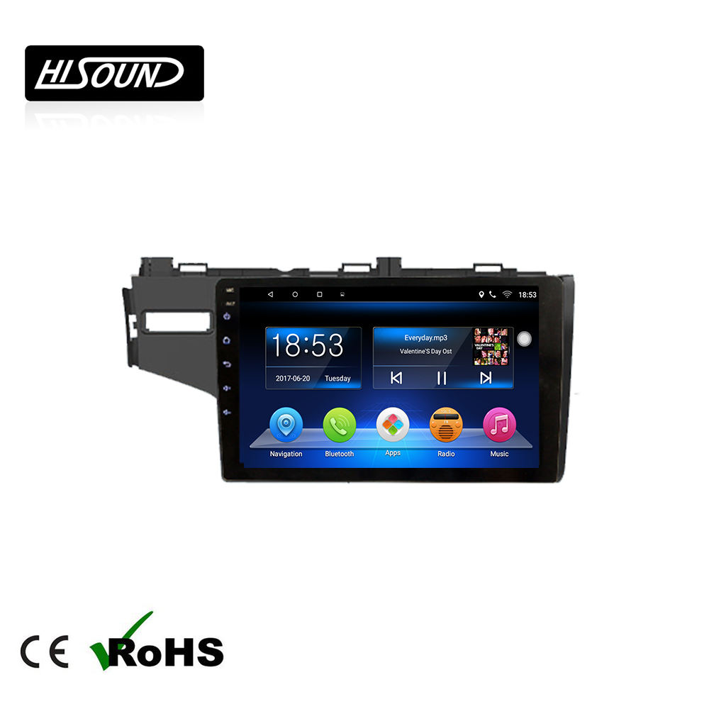 Android 8.1 system 10.1inch touch screen gps car radio 2 din for honda fit 2014