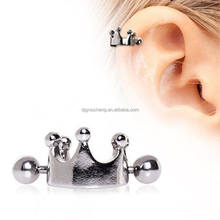 Crown Tragus Stud Earring Piercing Jewelry