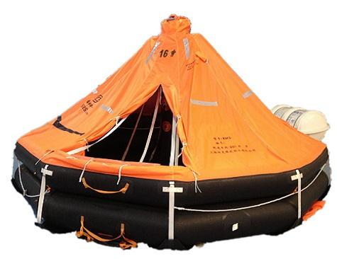 Davit-Launched Self-Righting Liferaft