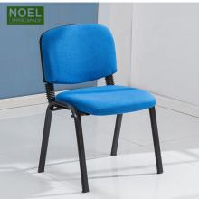 Metal Frame Fabric Armless Stacking Office Chair Stackable Visitor Training Staff Used Conference Room Guest Chair Fast Delivery