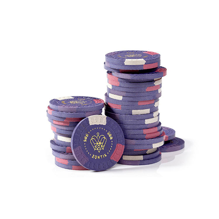 Multi color 14g arcilla poker chips ronda poker chip set