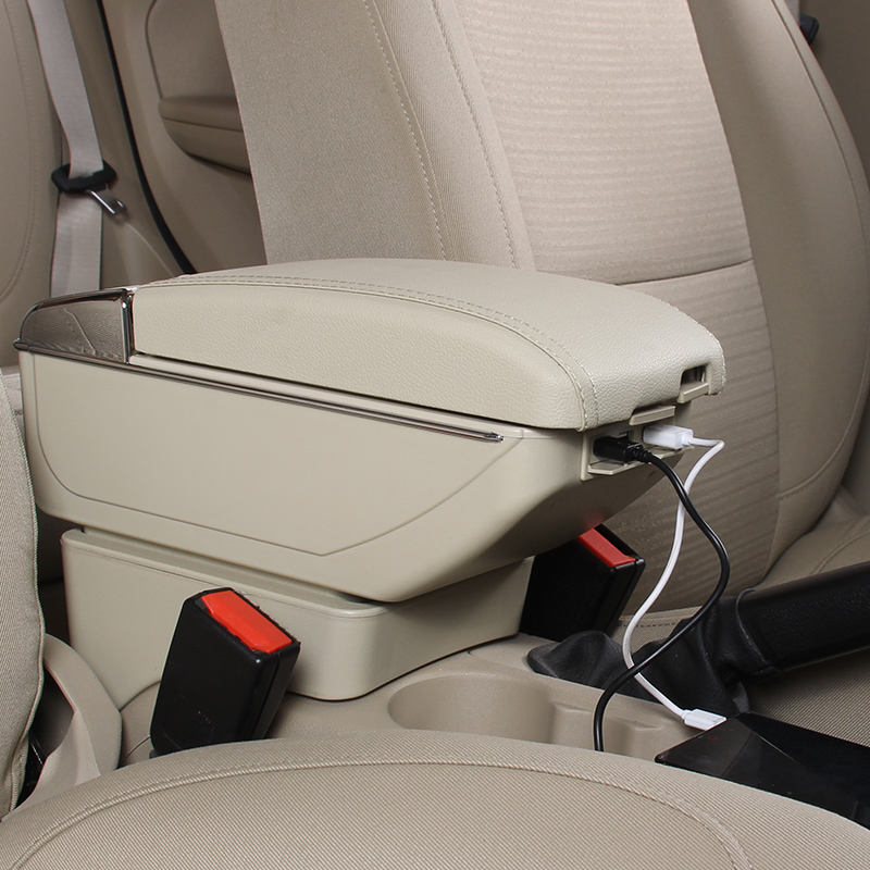 Universal Auto Console Box Car Armrest Console Box with USB port