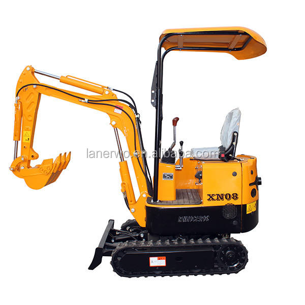 A RHINOCEROS Digger 0.8ton small mini Excavators with hydraulic hammer