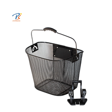 front strong cheap bike basket folding type steel basket