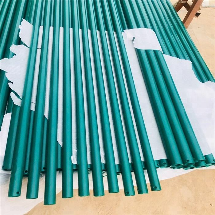 12 Foot Metal Steel Fence Posts With Green