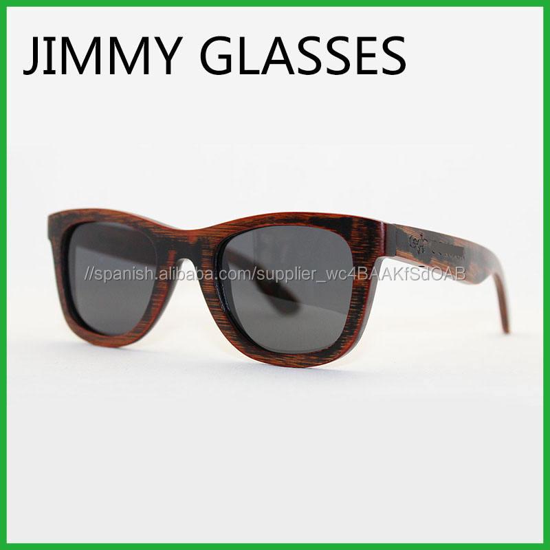 Al por mayor Especial De Bambú gafas de Sol Vintage gafas de Sol de Alta Calidad de Impresión de la Insignia