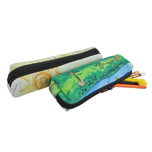 Zipper closed school&office neoprene pencil cases