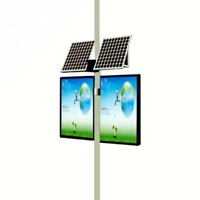 Solar advertising light boxes double side 2 sides outdoor full color
