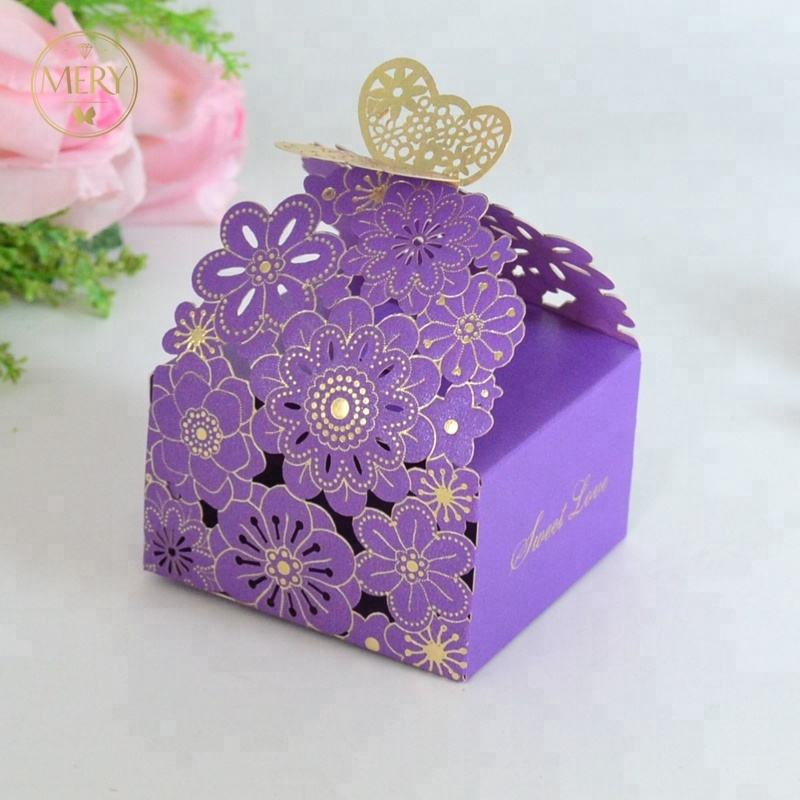 High quality butterfly style bride and groom wedding candy boxes