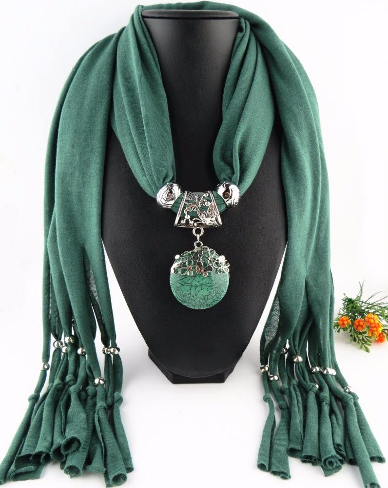 Polyester pendant scarf accessories jewelry