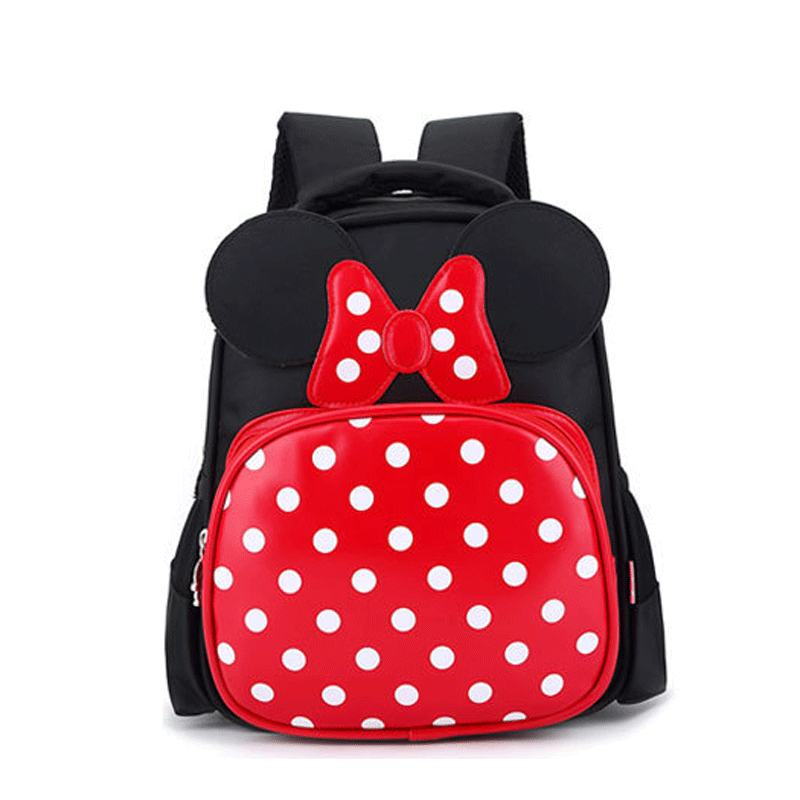 Korean Style Cute Cartoon Design Mickey Mouse Backpack Kids Children School Bag