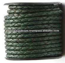 Round Hand Braided Leather Cord