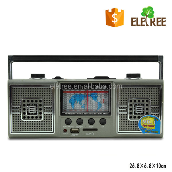 EL-909U AM/FM/SW1-9 11 BAND RADIO SD/USB MP3 GRAVADOR EXTERNO BATERIA de RECARGA