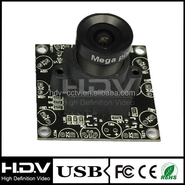 Free driver MJPEG/YUY2 OV7725 30fps/60fps/120fps VGA CMOS Camera Module for linux BarCode scanner (HDV-USB048MP32-L6)
