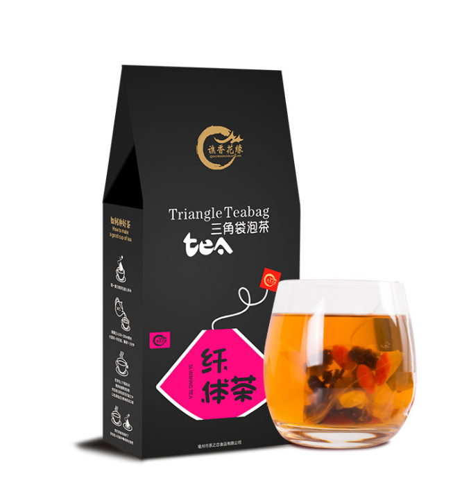 private label OEM fat burning Rose Lotus flower slimming tea weight loss detox drink
