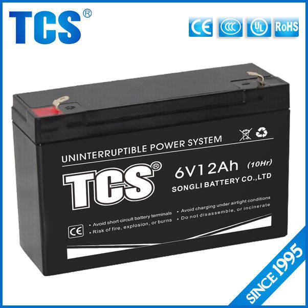 Melhor serviço para ciclo profundo bateria de chumbo ácido manter frete 6v12 Ah CE RoHS