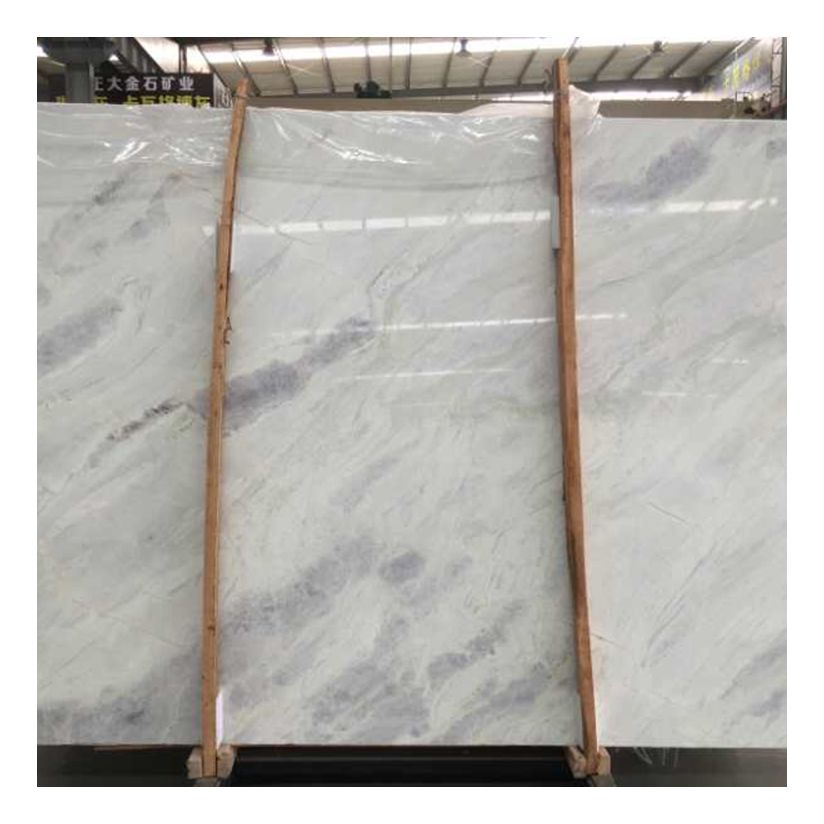 Good prices white onyx slab tiles stone with grey veins pattern bookmatch