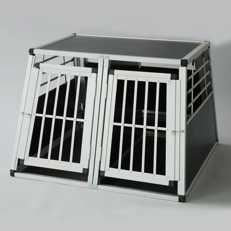 Hot sale aluminum dog crate in car