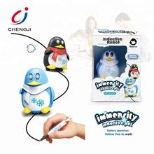 Newest item creative smart drawn line pen follower small inductive educational toys for kids