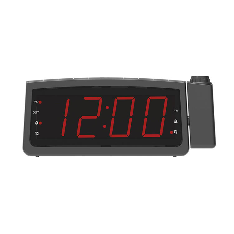 NEW products mini portable digital multi-functions fm radio alarm clock with projection for Bedroom, Kitchen, Hotel, Table, Desk