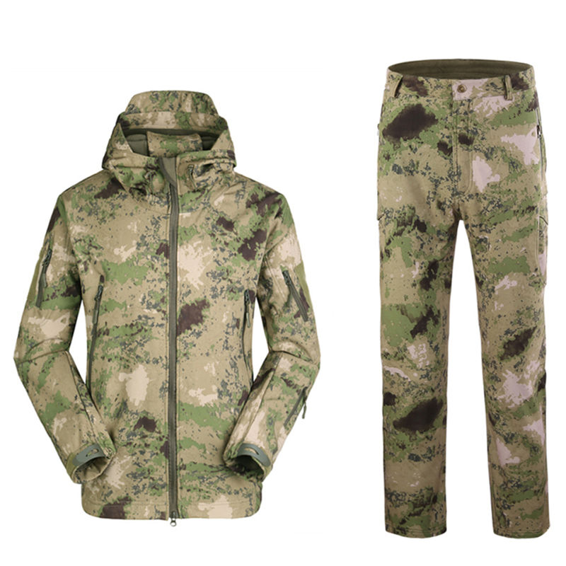 ESDY Outdoor Military Combat Uniform Waterproof Softshell Army Tactical Jacket Sets