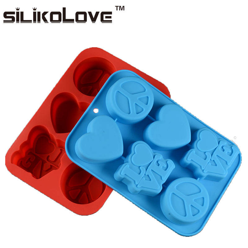 Cake Baking Silicone Molds Wholesale Sweet China Heart LOVE Design 3d Cake Tools Moulds Eco-friendly Stocked LFGB