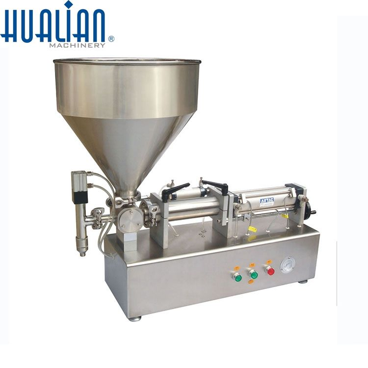 PPF-50T HUALIAN volumetric piston filler for paste,paste piston filler