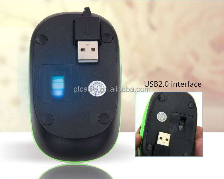 Slim Retractable Wired Optical Mouse RF Mice USB 2.0 Receiver mouse For Laptop PC