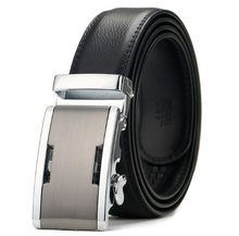 Wholesale high quality leather designer white men automatic belts buckles leather belt