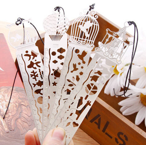Wholesale fashion etched metal bookmark