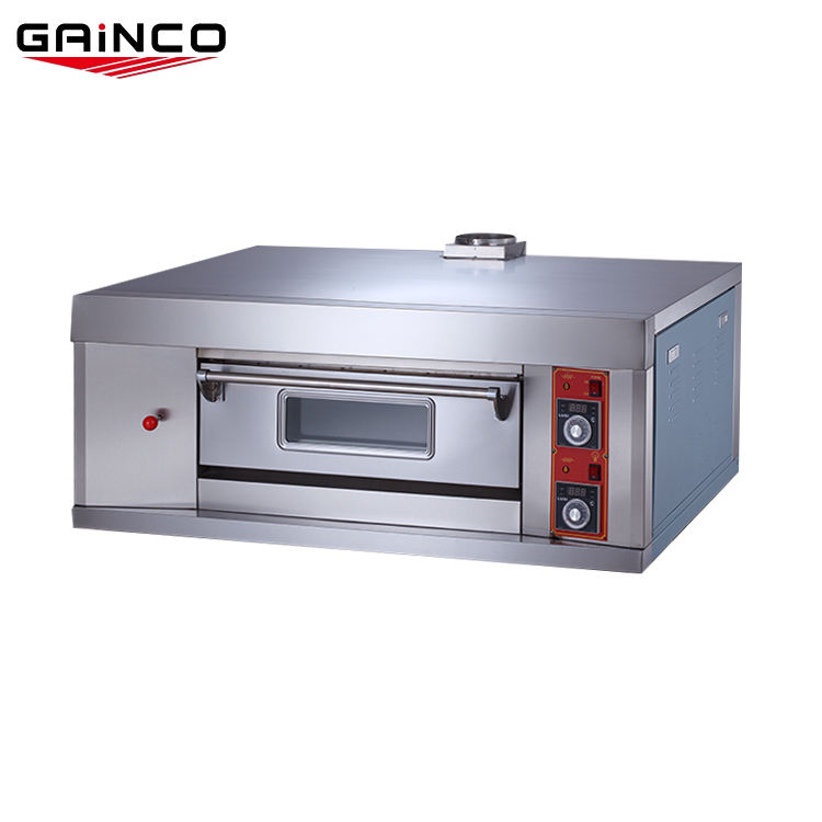 GAINCO machinery bakery equipments gas cooker commercial pizza oven single deck bread baking bakery oven price