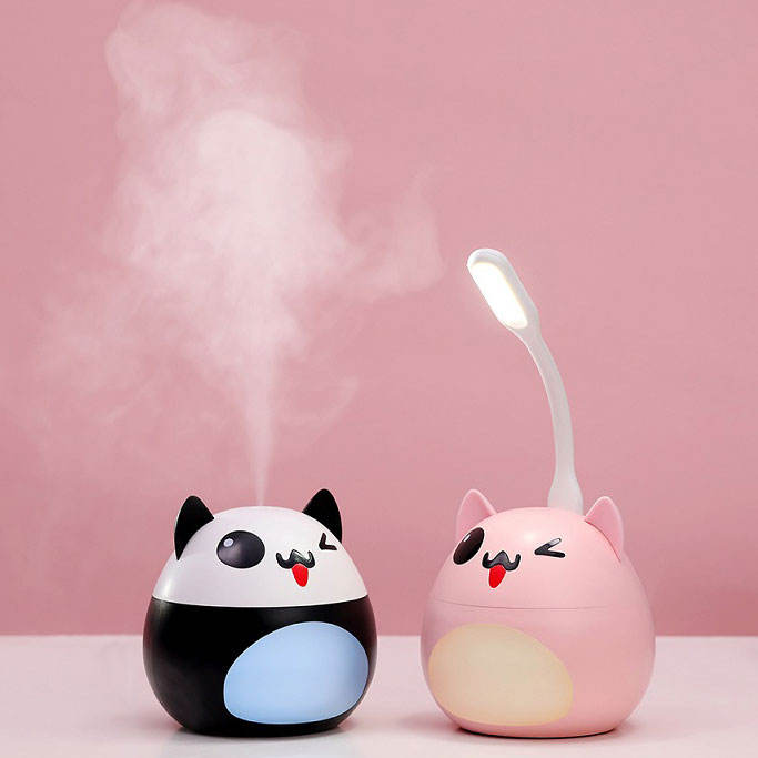 Novelty gifts mini fan humidifier aromatherapy diffuser homemade design humidifier ultrasonic