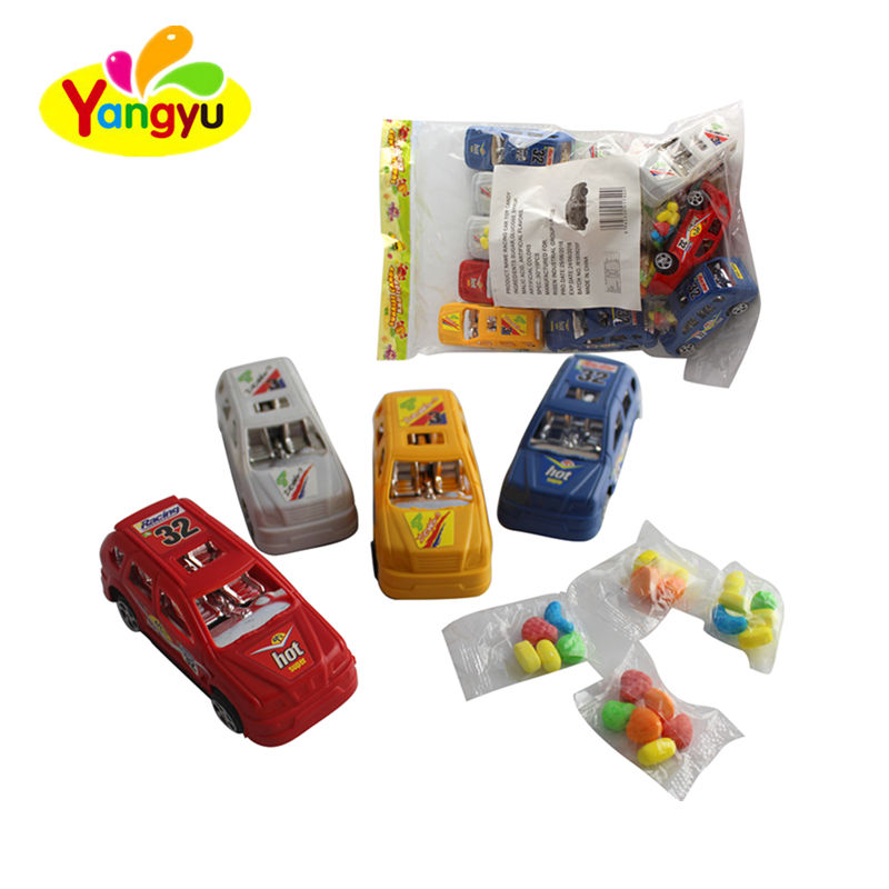 Opp Bag Packing Plastic Racing Car Toy With Candy