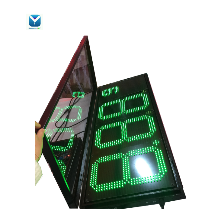 gas station single number green /red with white color 7segment electronics led price sign wifi PC/with remote digit led display