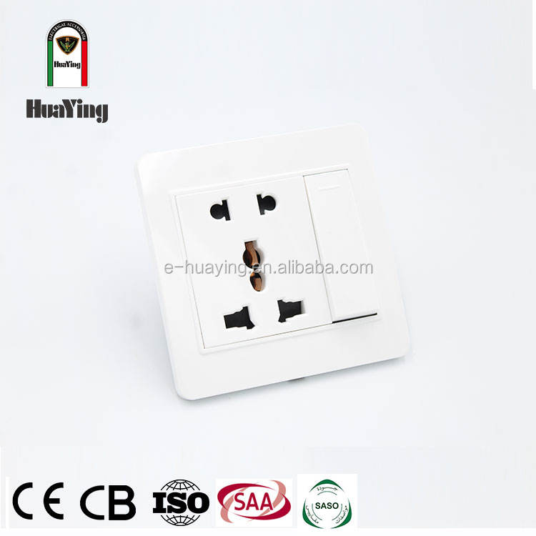 5 pin switch socket wall outlet plate