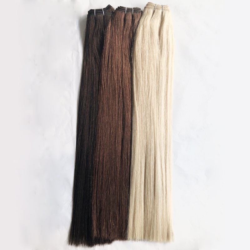 Wholesale high quality double drawn russian cuticle aligned hair remy hair extension