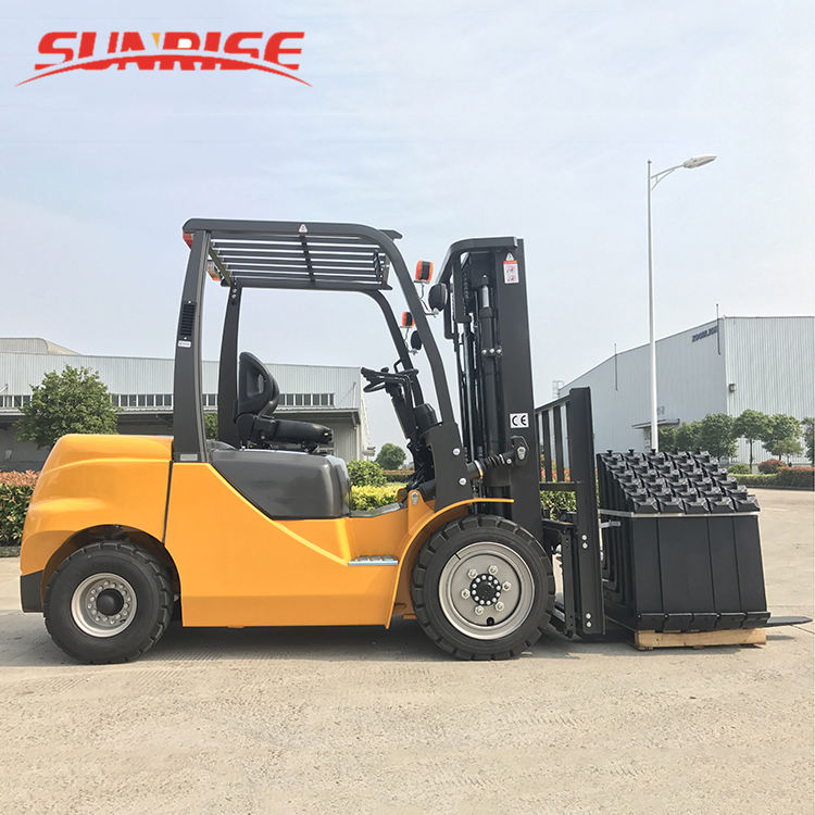 3m Lifting Height Yale Forklift 2 Ton Capacity Yellow CPCD20 Diesel Forklifts with Rubber Wheel
