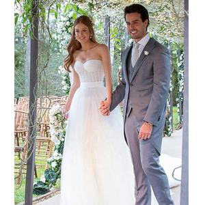 Strapless A-Line Wedding Dress Bridal Gown Casual Simple White Wedding Gowns 2019 New robe de mariage