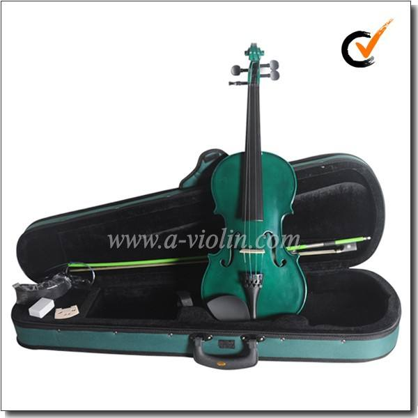Colorful Quality Dyed Hardwood Fingerboard Solid Wood Student violin sale china (AVL-15)