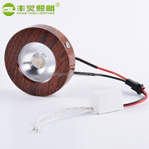 Дизайн освещения led Деревянный Смотреть 3 Вт светодиодный дисплей, светодиодные cob пятна вниз свет