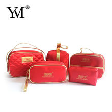 Newest Fashion custom wholesale ladies cosmetic set bag satin bag set