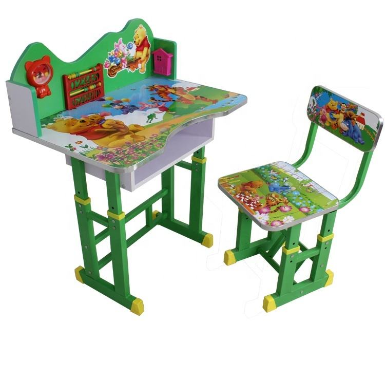 Best quality wooden table and chairs kids study table drawing table for children furniture