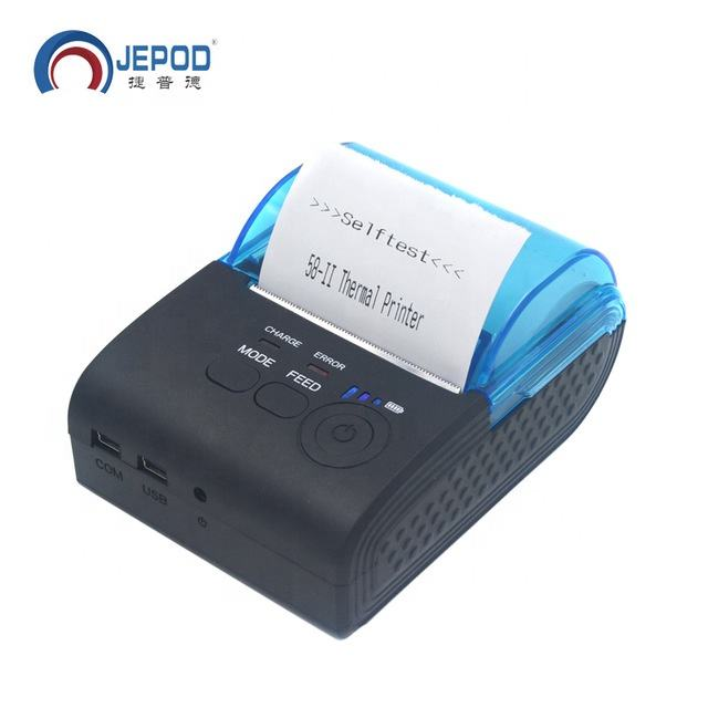 JEPOD JP-5805LYA portable 58mm thermal receipt printer mini wireless bluetooth pos receipt printer used for fast food