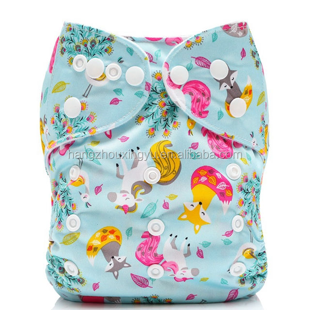 Mumsbest Cloth Diaper New Design Prints Wholesale OEM Dropshipping New Cartoon Cute Baby Pocket Cloth Diaper